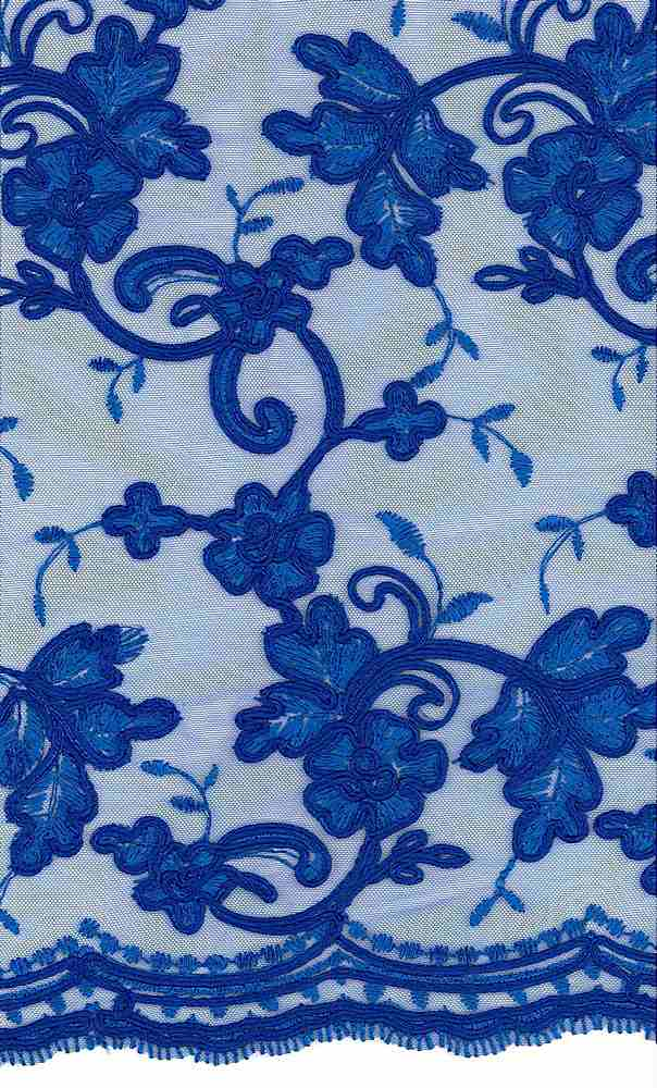 WTYX1511 / ROYAL / 100% POLYESTER MESH WITH HEAVY CORD EMB