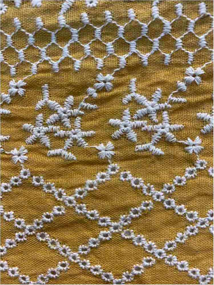 BTMH-A2802 / GOLD/IVORY / 55 POLY/45 COTTON