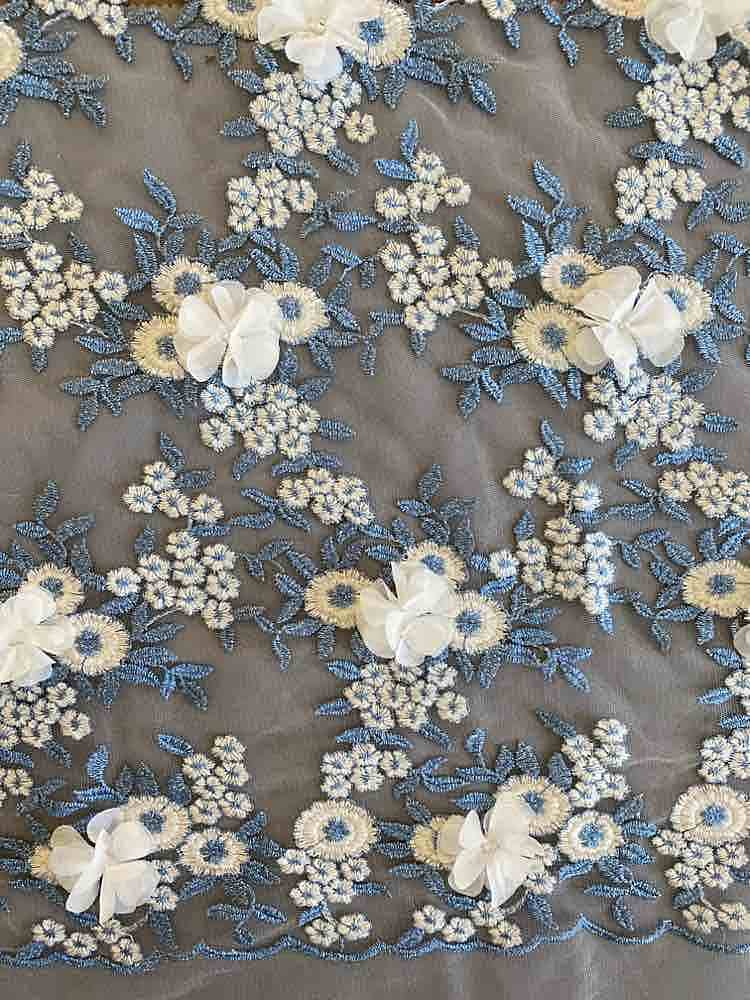 FC-SEC160702B / IVORY/BLUE / 100% POLYESTER [Modified from Sec-160702A]