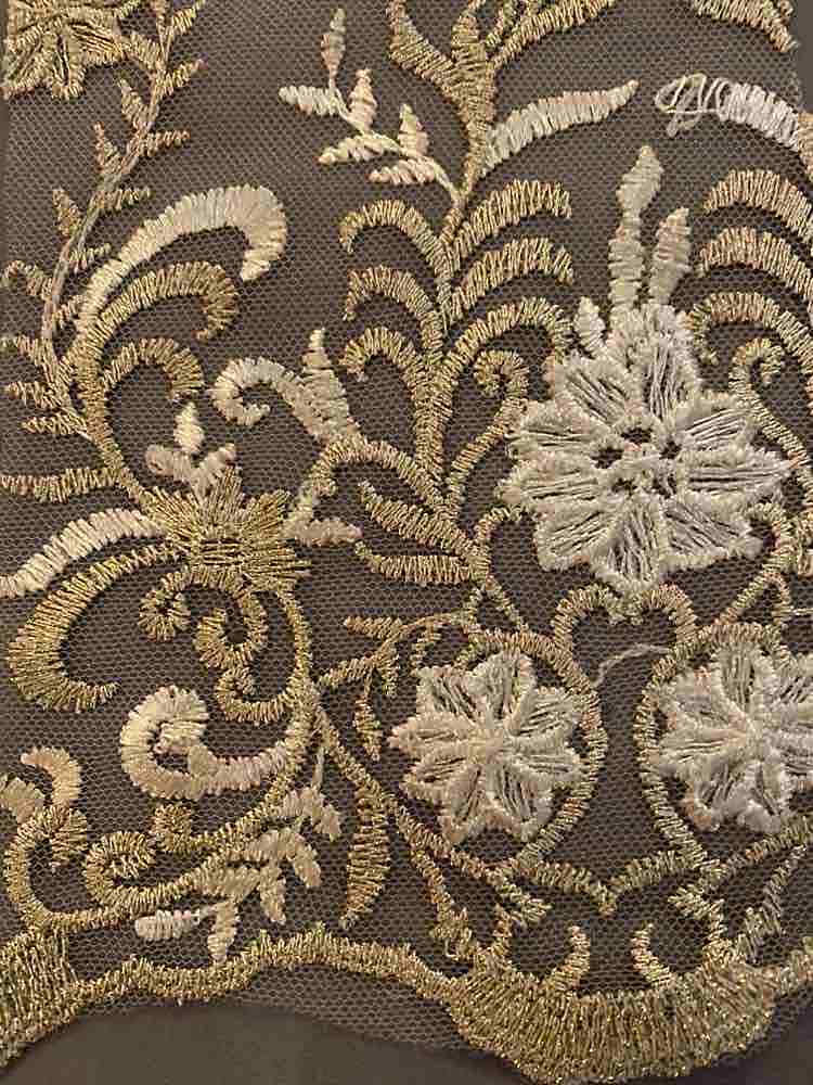 WTYX-1078 / IVORY/GOLD / 100% POLYESTER