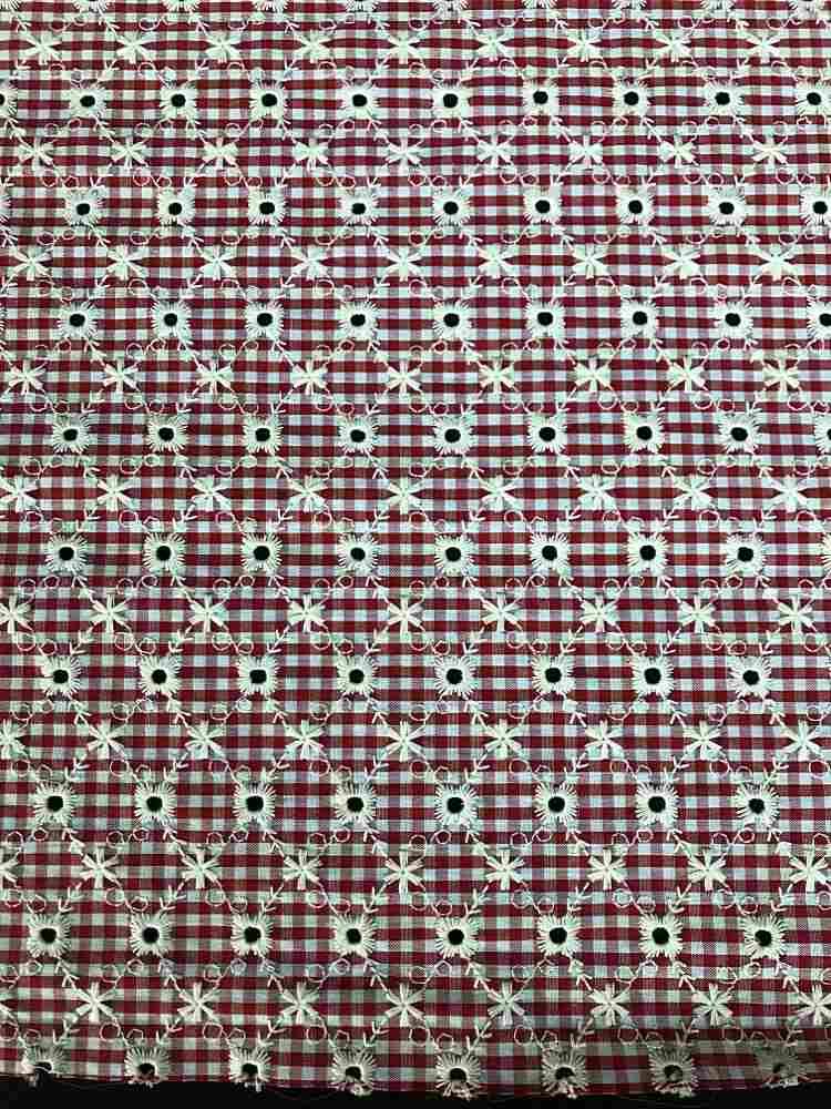SSCKN2103-1281 / RED/WHITE / 100% COTTON