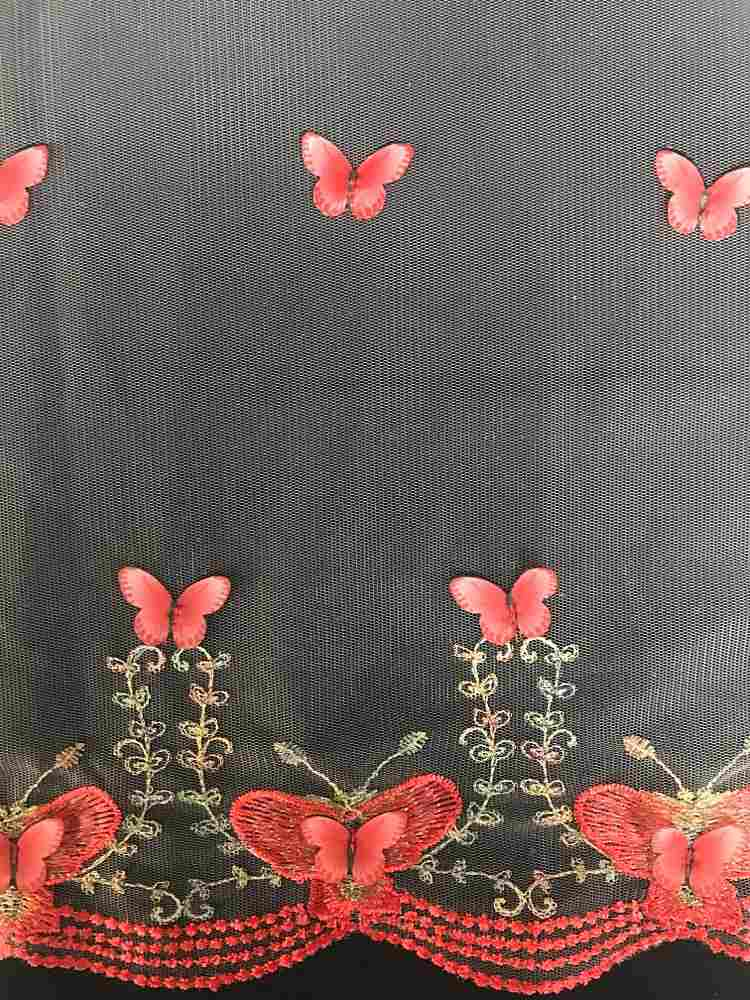 WTYX-3186 / IVORY/RED / 100% POLYESTER